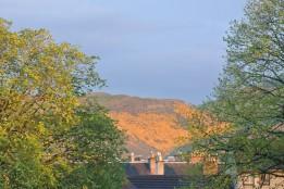 Looking toward Holyrood Park