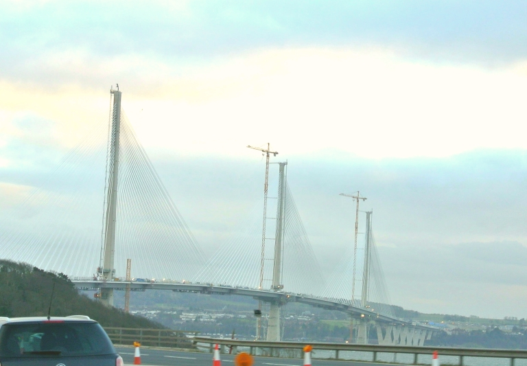 Queensferry Crossing under construction.