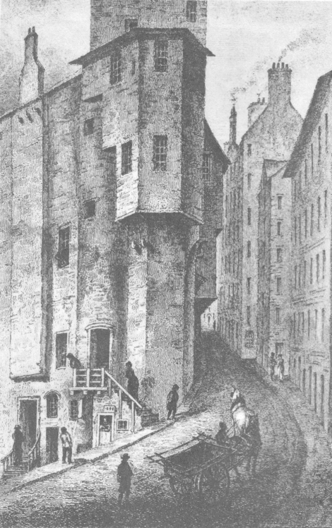 An artist's drawing of The West Bow.