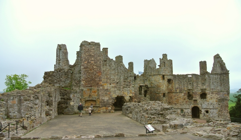 The ruined Great Hall at Dirleton Castle.