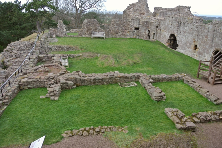 The yard at Dirleton Castle.