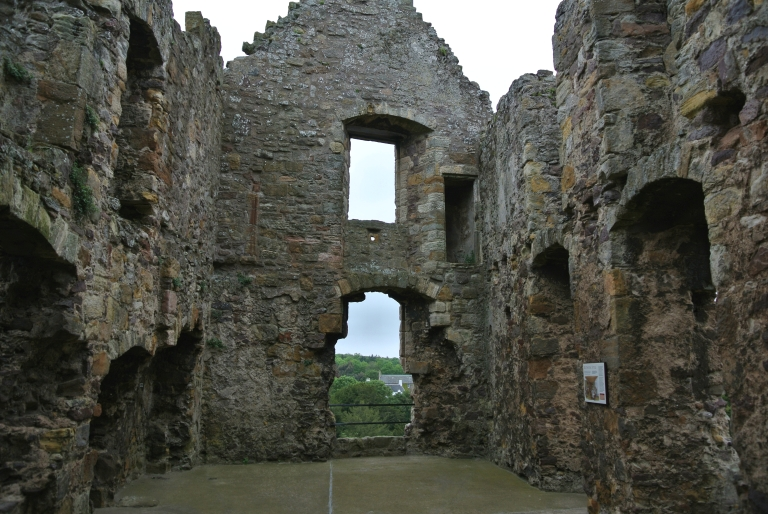 In interior view of Dirleton Castle.