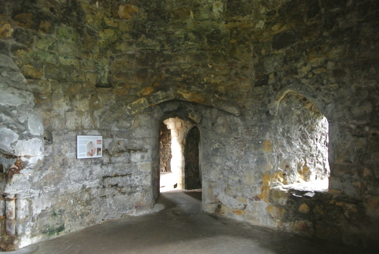 Interior room at Dirleton Castle.