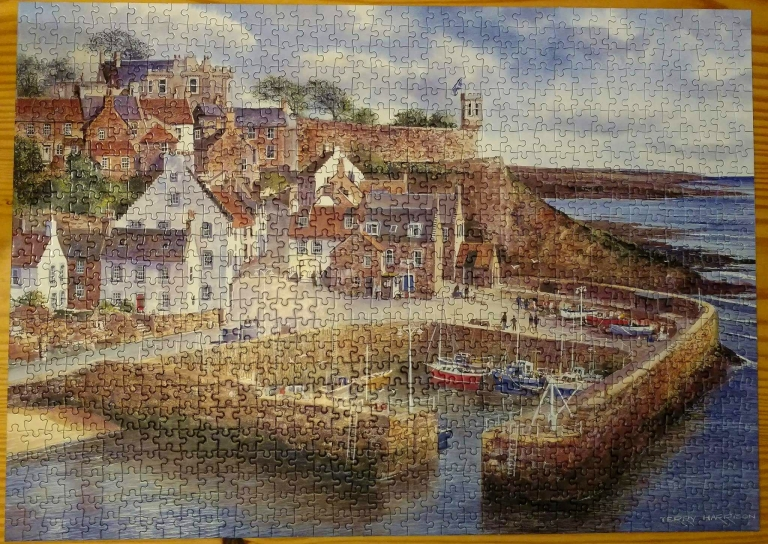 Jigsaw puzzle of Crail, Scotland.