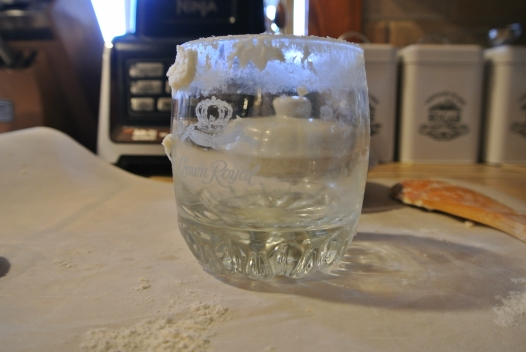 A glass used to cut out scones.