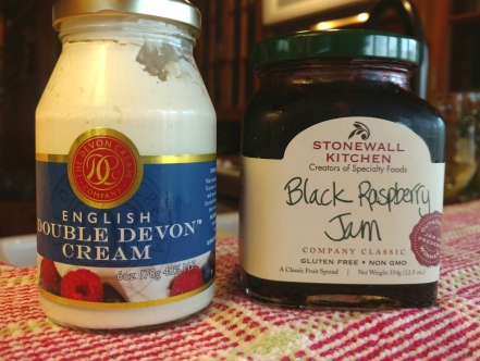 Devon cram and a jar of jam.