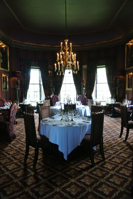 A fancy dining room at Prestonfield House.