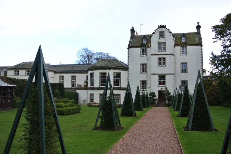 Back of Prestonfield House in Edinburgh, Scotland.
