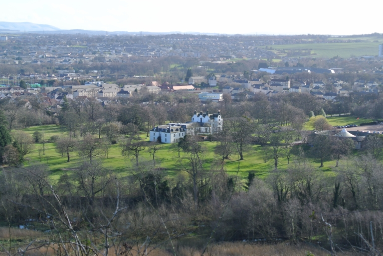Prestonfield House as viewed from Holyrood Park.
