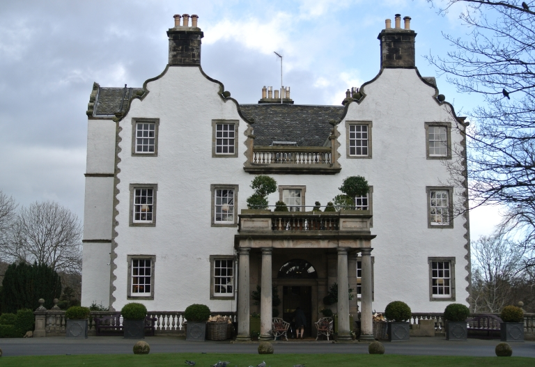 Front of Prestonfield House in Edinburgh, Scotland.