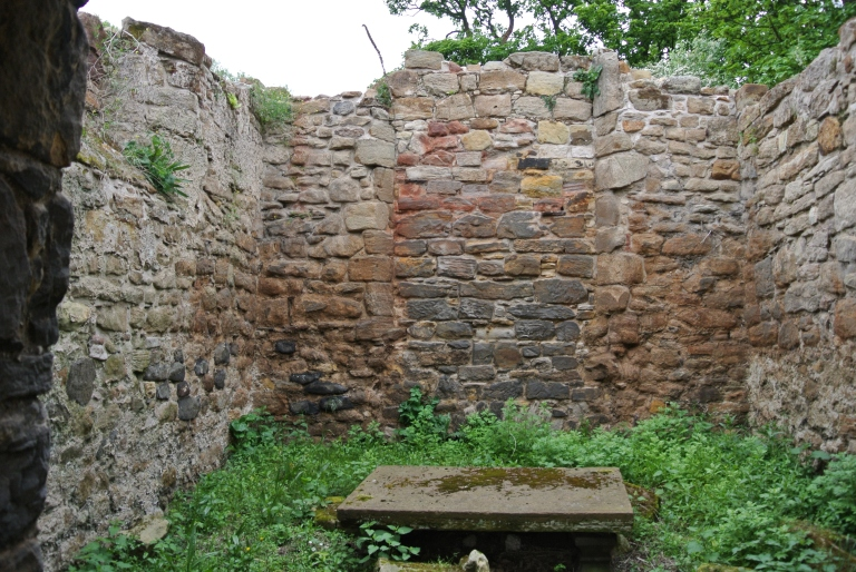 The ruined chapel at St. Andrews Kirk in Gullane, Scotland.