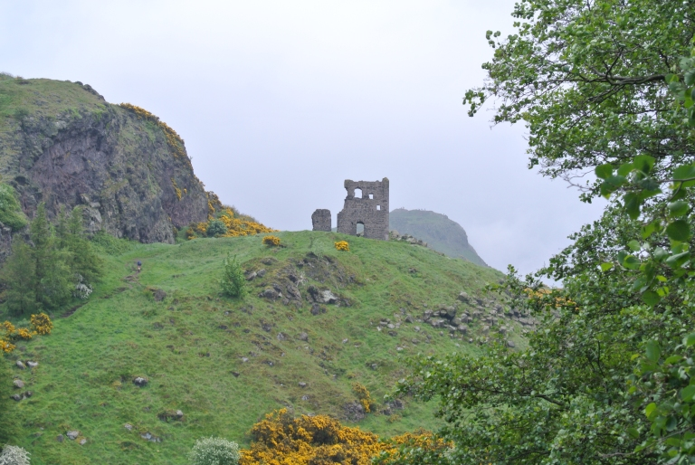 The ruins of St. Anthony's Chapel in Holyrood Park.