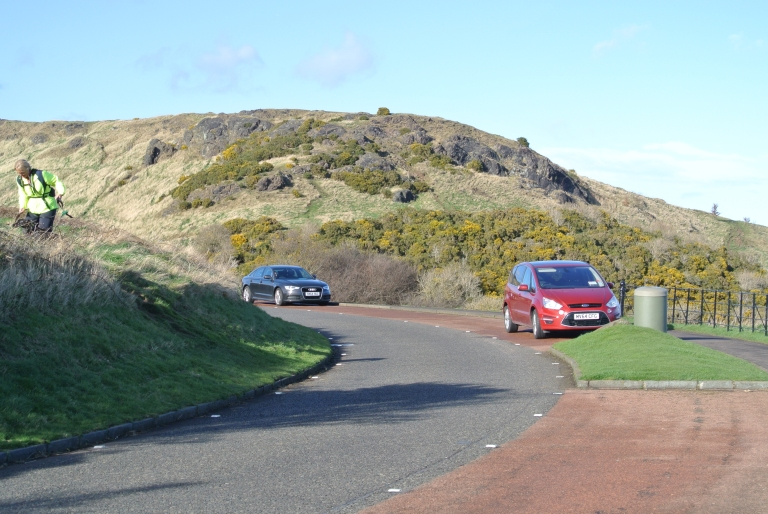 Queen's Drive in Holyrood Park.
