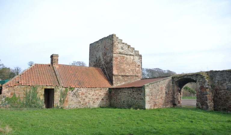 Castle outbuildings.