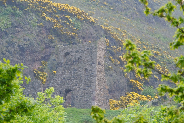 St. Anthony's chapel ruin in Holyrood Park.