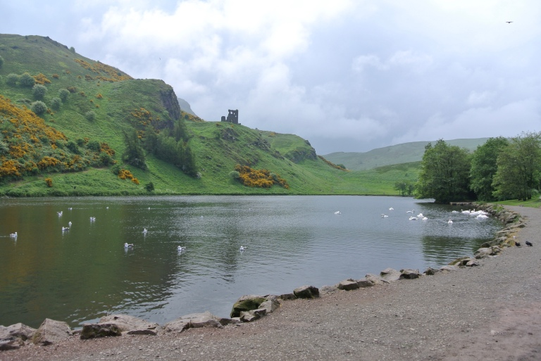 St. Margaret's Loch in Holyrood Park.