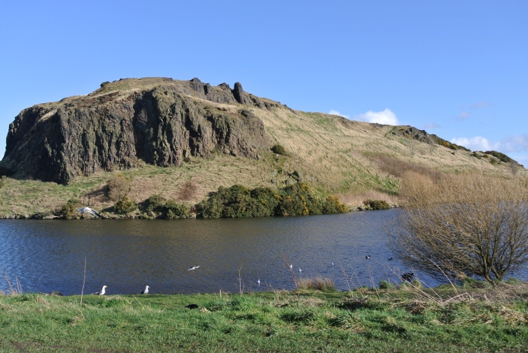 Dunsapie Loch in Holyrood Park.