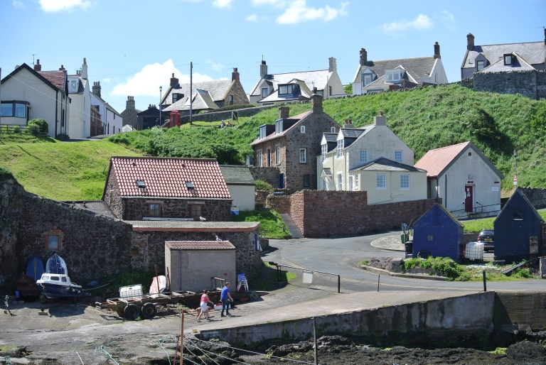 The fishing village of St. Abbs.