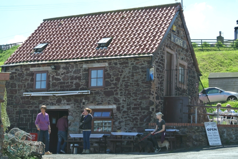 Ebbcarrs Cafe in St. Abbs, Scotland.