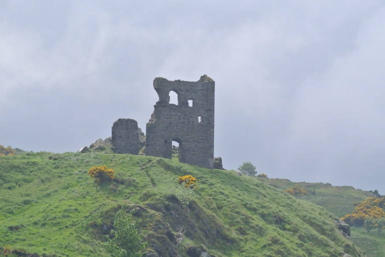 The ruin of St. Anthony's Chapel in Holyrood Park.