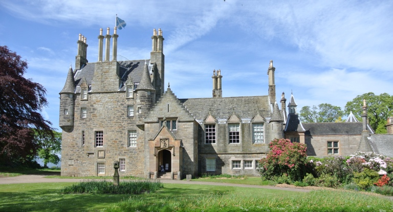 Front of Lauriston Castle in Edinburgh, Scotland.