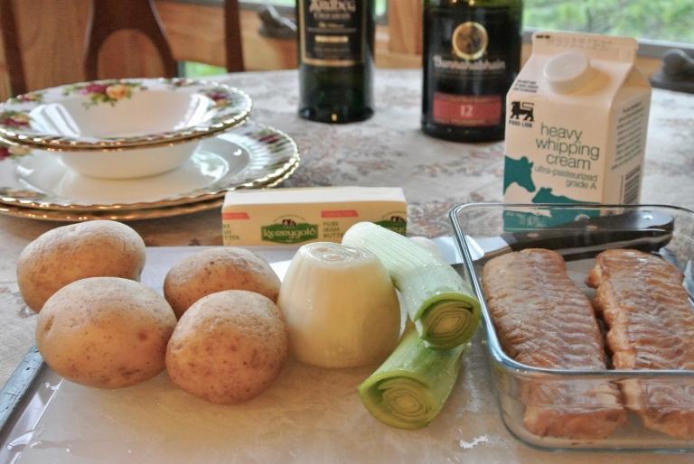Ingredients for Cullen skink.