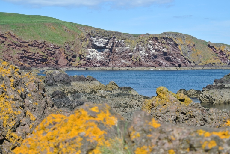 The rugged coastline along the North Sea.