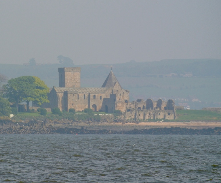 Inchcolm Abbey which sits on the Firth of Forth.
