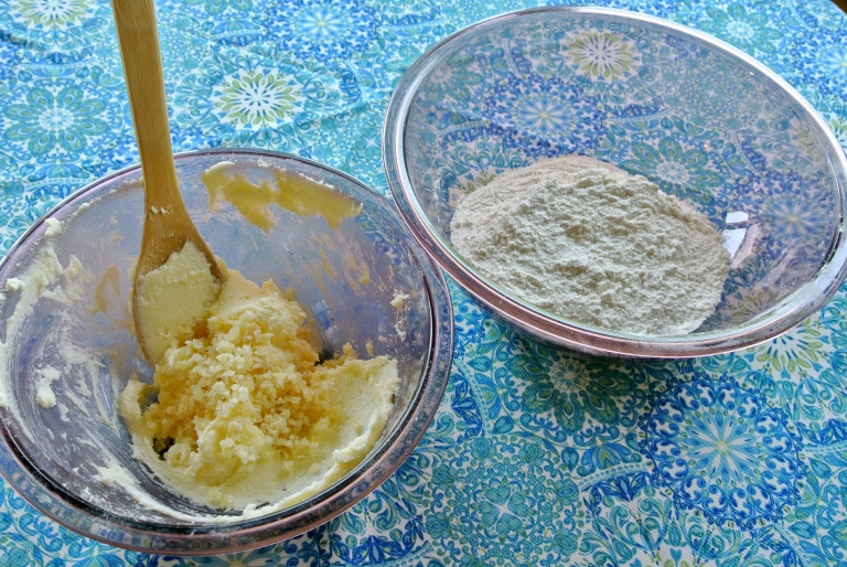 Shortbread ingredients.