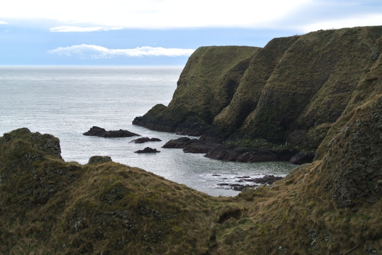 Rugged sea cliffs on the North Sea.