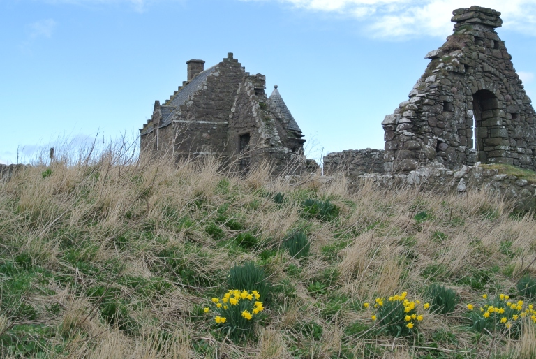 Dunnottar Castle ruins.