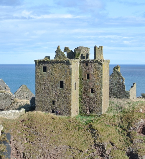 The tower house at Dunnottar Castle.